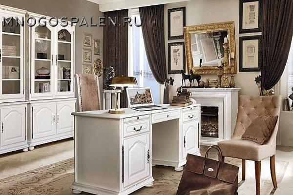 Кабинет Давиль купить в салоне-студии мебели Барселона mnogospalen.ru много спален мебель Италии классические современные