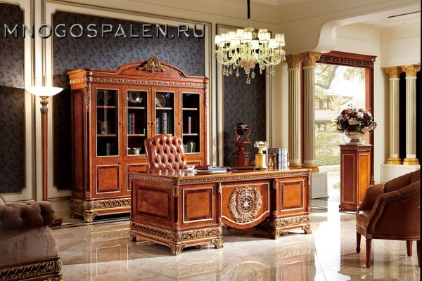 Кабинет Монарх купить в салоне-студии мебели Барселона mnogospalen.ru много спален мебель Италии классические современные