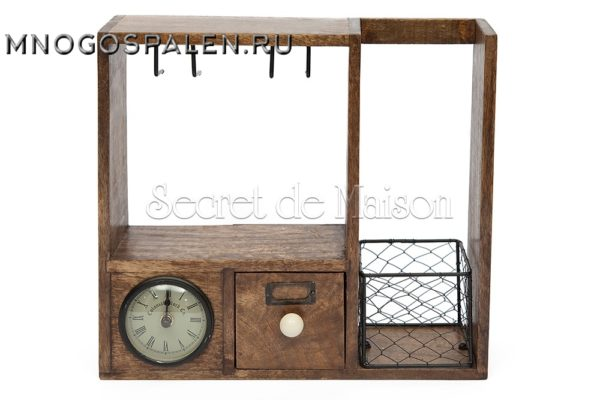 Винный кабинет с часами Secret De Maison CHATEAU (mod. C-3569) купить в салоне-студии мебели Барселона mnogospalen.ru много спален мебель Италии классические современные