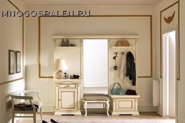 Прихожая Palazzo Ducale laccato купить в салоне-студии мебели Барселона mnogospalen.ru много спален мебель Италии классические современные