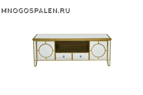 Тумба под телевизор зеркальная GD-1B43Z купить в салоне-студии мебели Барселона mnogospalen.ru много спален мебель Италии классические современные
